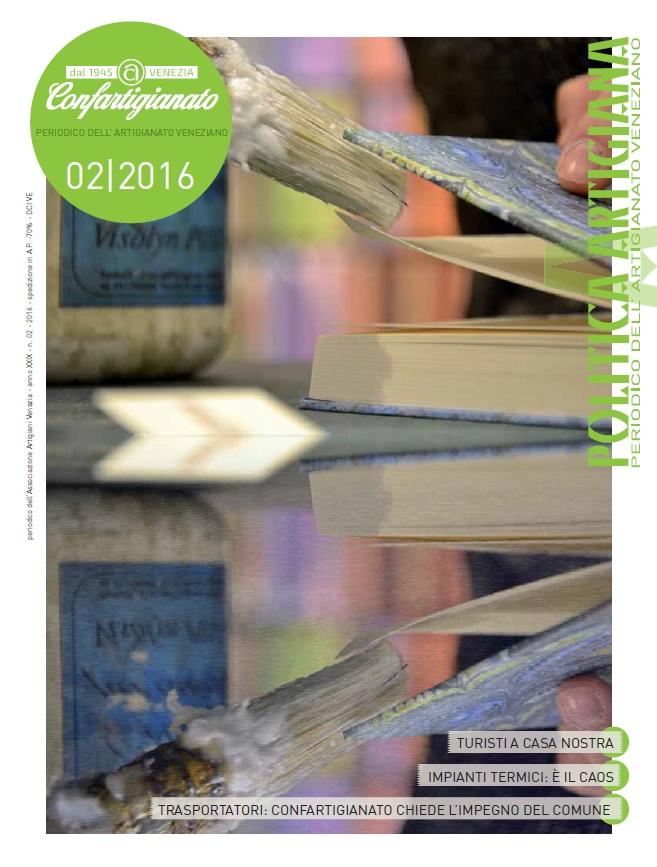 copertina periodico POLITICA ARTIGIANA secondo numero del 2016